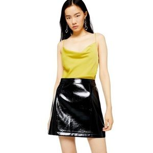 NWT TOPSHOP Faux Leather High Waist Mini Skirt